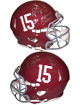AJ McCarron signed Alabama Crimson Tide Full Size Speed Authentic Riddell Helmet #15 2 Sig #10 3X National Champs- Beckett Holo