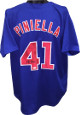 Lou Piniella signed Blue TB Custom Stitched Baseball Jersey XL- JSA Hologram