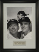 Mickey Mantle, Babe Ruth, and Roger Maris unsigned New York Yankees 11x14 Vintage B&W Photo Custom Framed