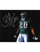 Brian Dawkins signed Philadelphia Eagles 8x10 Photo #20 (horizontal-green jersey-w/visor)