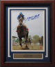 Smarty Jones signed 2004 Preakness Horse Racing 8x10 Photo Custom Wood Framed Go Smarty Go