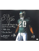 Brian Dawkins signed Philadelphia Eagles 16x20 Photo 5 stat- All Decade, Last #20, 29/20, 9X Pro Bowl & Weapon X (horizontal)