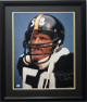 Jack Lambert signed Pittsburgh Steelers 16x20 Photo Custom Black Framed HOF 90- JSA Hologram