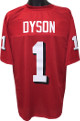 Kevin Dyson Utah Utes unsigned TB Red Custom Jersey Shadow #'s XL