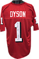 Kevin Dyson Utah Utes signed Red TB Custom Shadow # Jersey #1 1998 1st Round Pick!! XL