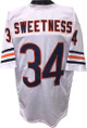 "Walter Payton ""Sweetness"" Chicago Bears unsigned White TB Prostyle Jersey XL"