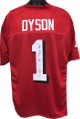 Kevin Dyson Utah Utes signed Red TB Custom Shadow # Jersey #1 1998 1st Round Pick!! minor bleed XL