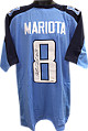 Marcus Mariota signed Light Blue Custom Stitched Pro Style Football Jersey XL #8 (black sig)- Mariota Hologram
