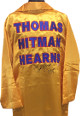 Thomas Hearns signed Full Length Gold Boxing Robe HITMAN- PSA Hologram #X86235
