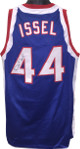 Dan Issel signed Kentucky Colonels Blue TB Custom Stitched Basketball Jersey XL- JSA Witnessed Hologram
