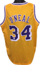 Shaquille O'Neal signed Gold TB Custom Stitched Pro Style Basketball Jersey XL- JSA Hologram
