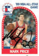 Mark Price signed 1989-90 NBA Hoops All Star Basketball Card #28 (Cleveland Cavaliers)