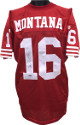 Joe Montana signed San Francisco 49ers Wilson Red NFL Authentic On Field Jersey- Upper Deck Hologram