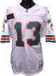 Dan Marino signed Miami Dolphins Wilson White TB NFL Authentic On Field Jersey w/ 343 Patch #332- Upper Deck Hologram