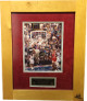 Michael Jordan signed Chicago Bulls 8x10 Photo w/ 1998 Final Floor Framing LTD 19 of 98- Upper Deck Hologram