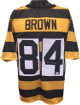 Antonio Brown signed Black & Gold Custom Stitched Pro Style Football Jersey- JSA Hologram