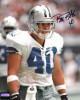 Bill Bates signed Dallas Cowboys 8x10 Photo #40 (white jersey) minor scuff- Mounted Hologram