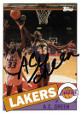 AC Green signed Los Angeles Lakers 1993 Topps Archives Basketball Trading Card #65