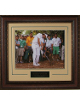 Bubba Watson unsigned 2012 Masters 11X14 Photo Leather Framed V-Groove Premium Matting- Pinestraw Horizontal