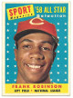 Frank Robinson 1958 Topps NL All Star Cincinnati Redlegs Baseball Trading Card #484- minor wear