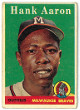 Hank Aaron 1958 Topps Milwaukee Braves Baseball Trading Card #30- corner wear