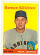 Harmon Killebrew 1958 Topps Washington Senators Baseball Trading Card #288- OC- minor wear
