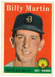Billy Martin 1958 Topps Detroit Tigers Baseball Trading Card #271- average wear-back stain