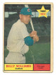 Billy Williams 1961 Topps Chicago Cubs Baseball Rookie Trading Card #141- poor-surface crease & wear