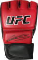 Amanda Nunes signed UFC Official Red Left Fight Glove (black sig)- JSA Hologram