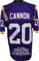 Billy Cannon signed Purple TB Custom Stitched Football Jersey w/ dual #20 Heisman Trophy 1959 & HOF XL w/ Embroidered Stats- JSA