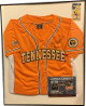 Monica Abbott signed Tennessee Lady Vols Orange Colosseum Athletics Softball Jersey Go Vols! Custom Framed 24x30