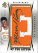 Bernard King signed Tennessee Volunteers 2012-13 SP AUTHENTIC BY THE LETTER JERSEY Trading card # BL-BK 17/75