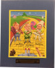 Wizard of Oz Original Munchkins signed 11x14 Matted Photo (blue)- 3 sig- Mickey Carroll, Jerry Maren & Karl Slover LTD 589/3000