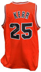 Steve Kerr signed Red Custom Stitched Pro Basketball Jersey 3 Peat 96-98 XL