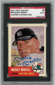 Mickey Mantle signed  NY Yankees 1991 Topps Archives  (1953 Series card #82) – Sports Card Guaranty Authentic-AU819635