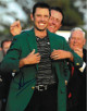 Charl Schwartzel signed PGA 11X14 Photo (Pose w/ Mickelson)(2011 Augusta National Masters Championship green jacket)