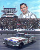 Junior Johnson signed NASCAR Vintage Atlanta Raceway Chevrolet #3 11x14 Photo