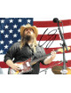 Chris Stapleton signed 8x10 Photo (Horizontal/Guitar/Flag)- JSA Hologram #P62217 (country music/entertainment)