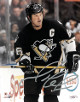 Mario Lemieux signed Pittsburgh Penguins 8X10 Photo (silver sig)- JSA Hologram #G57251