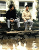 Dustin Hoffman signed Rain Man 11x14 Photo (Sitting with Cruise)- Beckett Holo #C65662