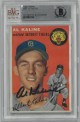 Al Kaline signed Detroit Tigers 1954 Topps #201 Rookie Trading Card- Beckett Encapsulation #0010061169