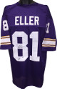Carl Eller signed Purple TB Custom Stitched Pro Style Football Jersey HOF 04 XL- JSA ITP Hologram