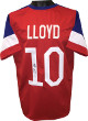 Carli Lloyd signed Team USA Red w/ Blue Trim Custom Stitched Soccer Jersey #10- JSA Hologram ITP