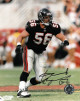Keith Brooking signed Atlanta Falcons 8x10 Photo #56 (black jersey)
