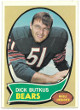 Dick Butkus Chicago Bears 1970 Topps Football Trading Card #190