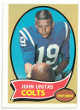 Johnny Unitas Baltimore Colts 1970 Topps Football Trading Card #180- Off Center