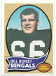 Bill Bergey Cincinnati Bengals 1970 Topps Football Rookie Trading Card #168