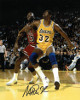 Magic Johnson signed Los Angeles Lakers 8x10 Photo (vs Michael Jordan)- PSA/JSA/BAS Guaranteed To Pass