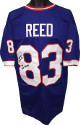 Andre Reed signed Blue TB Custom Stitched Pro Style Football Jersey #83 7X Pro Bowler XL- PSA/JSA/BAS Guaranteed To Pass