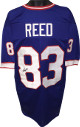 Andre Reed signed Blue TB Custom Stitched Pro Style Football Jersey #83 XL- PSA/JSA/BAS Guaranteed To Pass